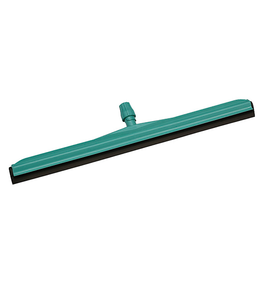 GREEN PLASTIC FLOOR SQUEEGEE- BLACK RUBBER