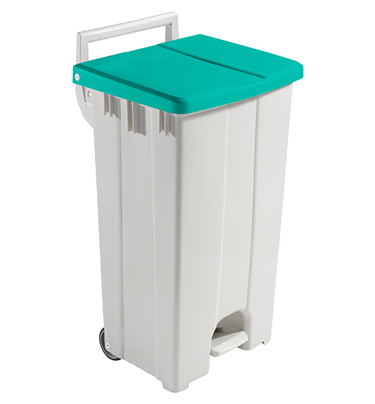 DERBY - 90 LT BIN WITH GREEN LID