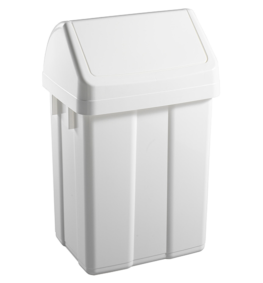 MAX- 50 LT PLASTIC BIN WITH WHITE SWINGING TOP